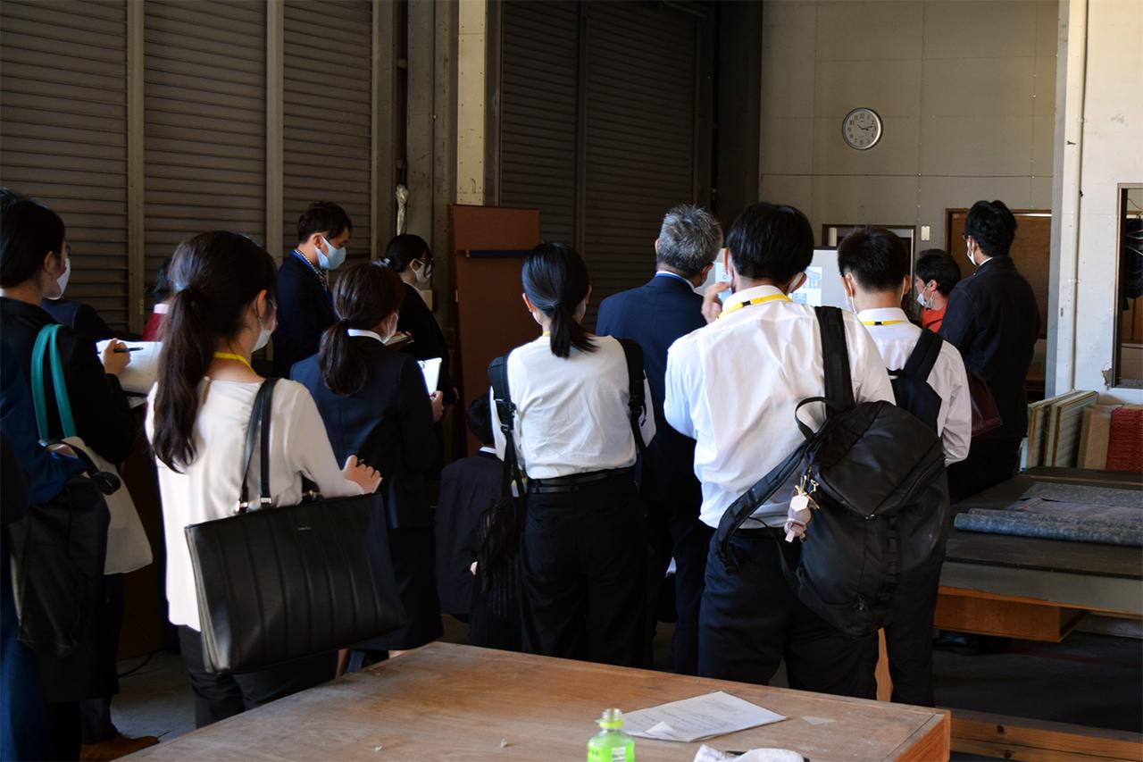 山下製畳さんの、「かごしま青年塾」現地講習