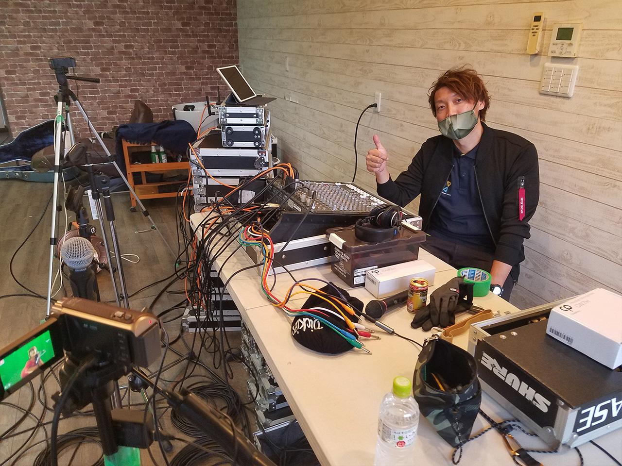 実行委員の方の音響設備がすごかったです。