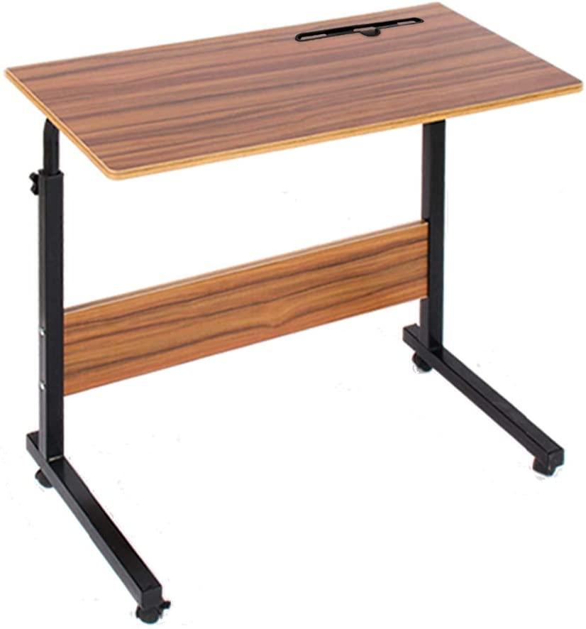 ベッドサイドテーブル。ノートパソコンなど置いて簡単な作業もできるようにしました。